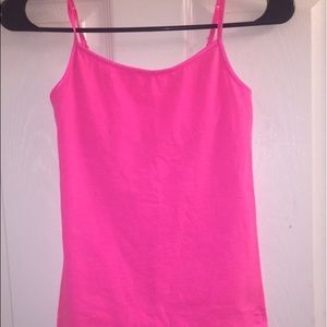 Hot pink cami from Justice.